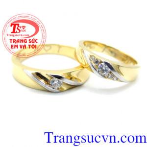 Nhẫn cưới vàng 14k sang trọng