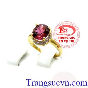 Nhẫn vàng nữ đính đá tourmaline