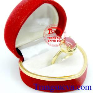 Nhẫn nữ Ruby xinh