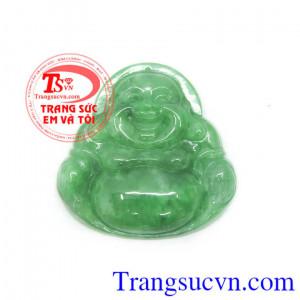Phật di lặc ngọc cẩm thạch xanh