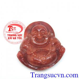 Phật di lặc ngọc cẩm thạch đỏ bản to