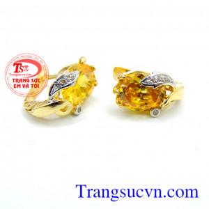 Hoa tai vàng đá vàng