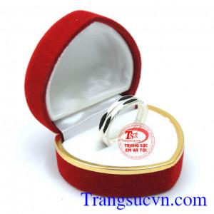 Nhẫn bạc nữ lông đuôi voi