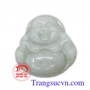 Phật di lặc ngọc cẩm thạch trắng