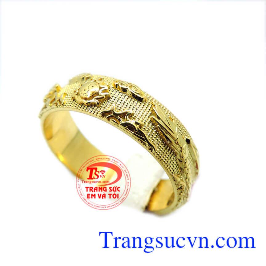 Nhẫn nam rồng vàng 18k