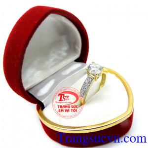 Nhẫn nữ kiểu đẹp sáng bóng 10k korea