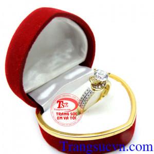 Nhẫn nữ đá quý korea 10k