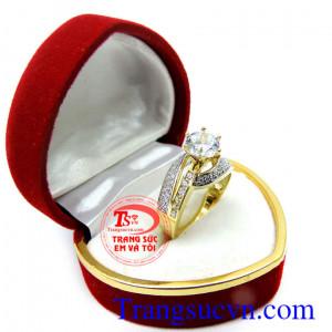 Nhẫn nữ korea 10k kim cương
