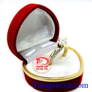 Nhẫn nữ vàng tây 10k kim cương