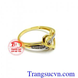 Nhẫn nữ 10k vàng tây korea