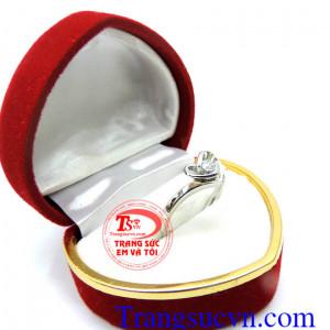 Nhẫn nữ vàng trắng korea 10k
