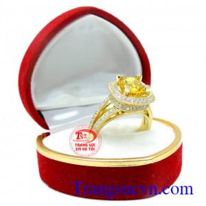 Nhẫn nữ xoắn ốc sapphire vàng 18k