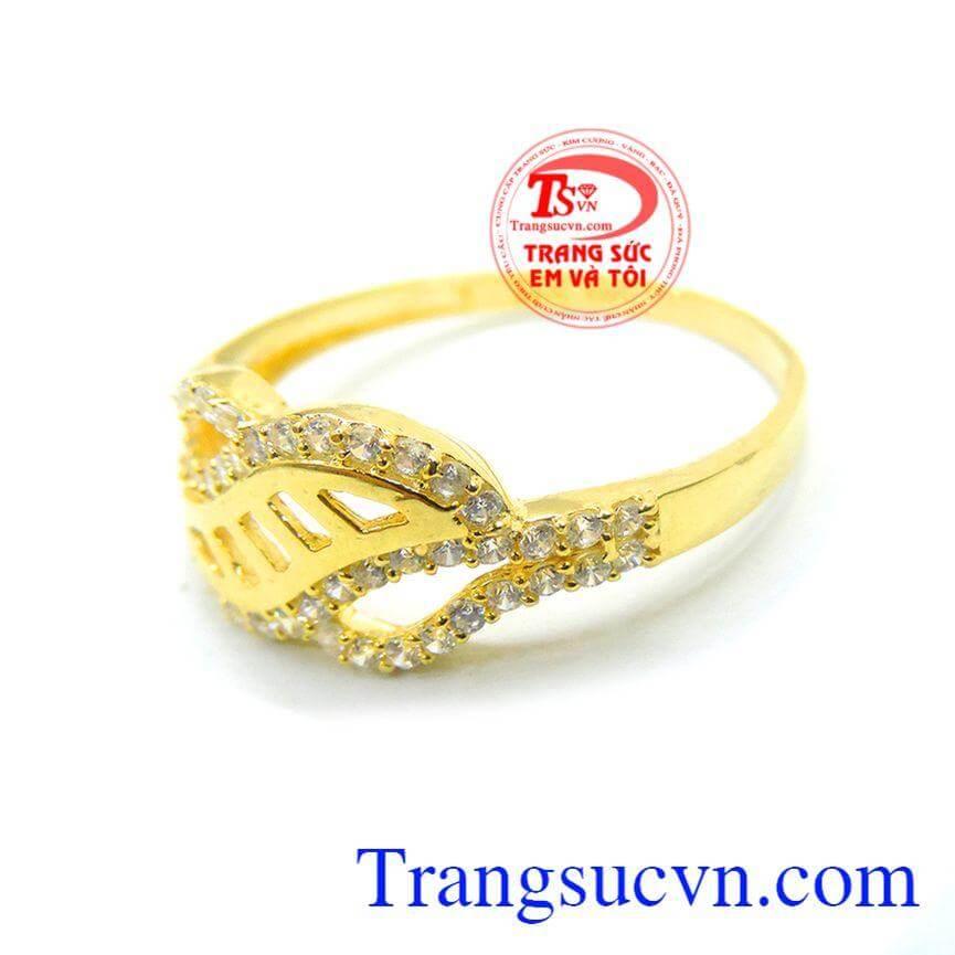 Nhẫn nữ vàng tây bậc thang tình yêu