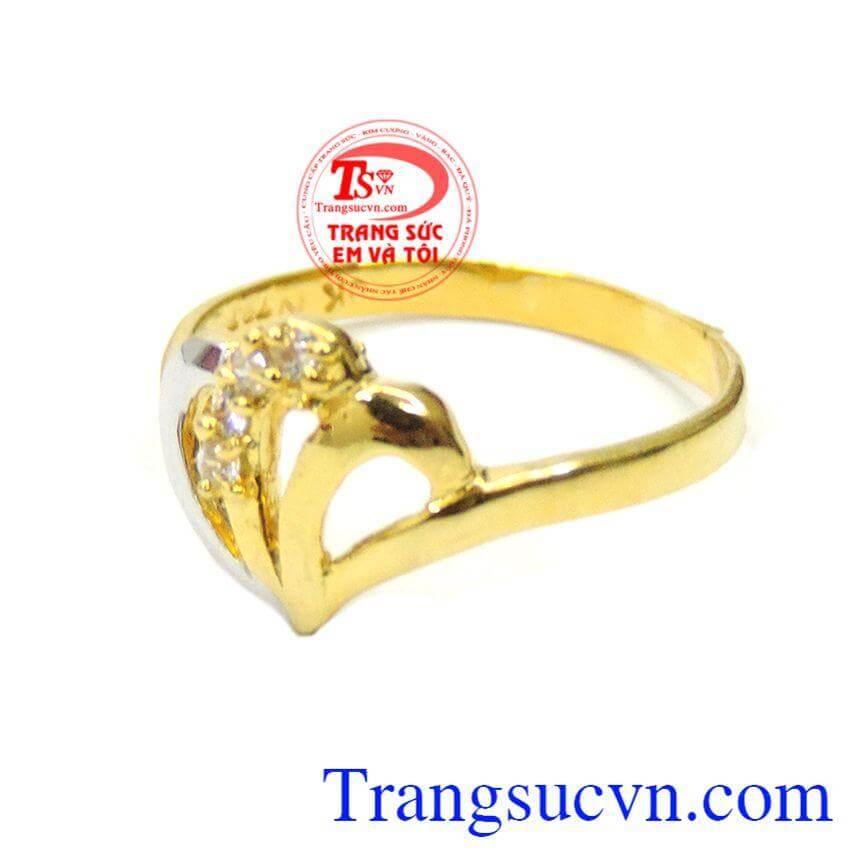 Nhẫn nữ vàng 10k kiểu dáng đẹp