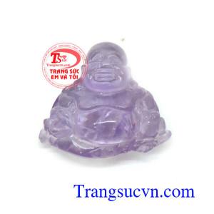 Phật di lặc thạch anh tím tự nhiên