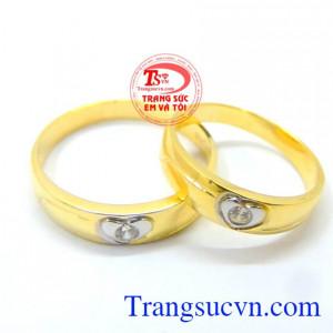Nhẫn cưới vàng 10k giá tốt