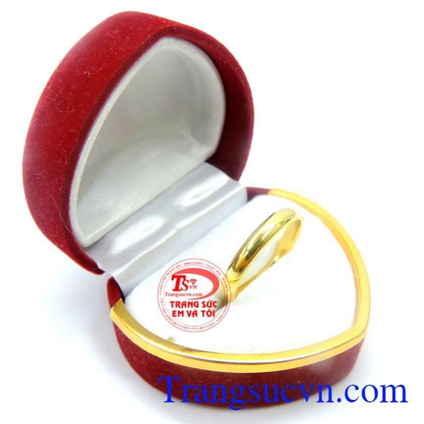 Nhẫn nam vàng 14k tròn trơn