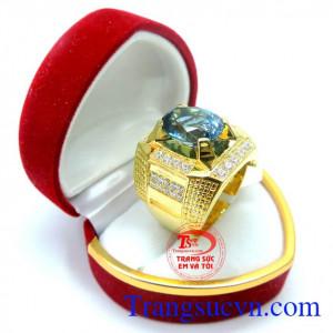 Nhẫn nam đá topaz quý phái