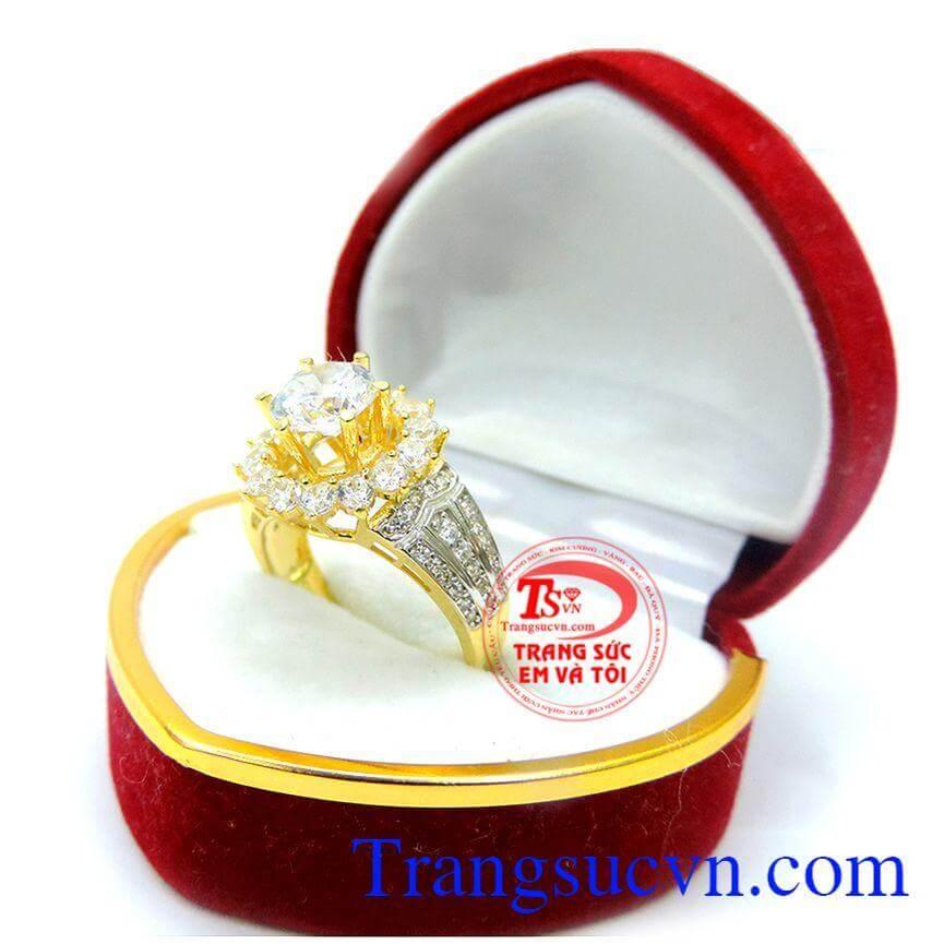 Nhẫn nữ vàng kim cương lấp lánh