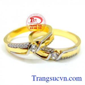 Nhẫn cưới 10k vàng chất lượng