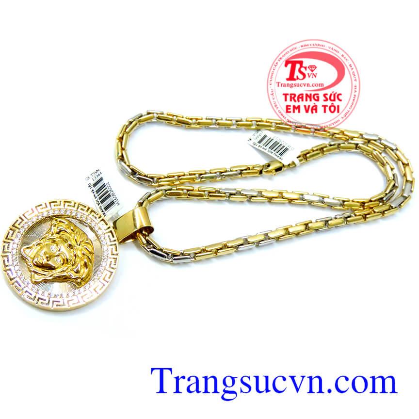 Khách hàng ưa chuộng và bình chọn nhiều năm,Bộ Mặt dây Versace vàng 18k Italy