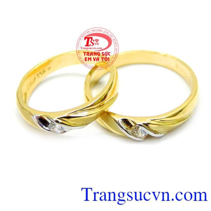 Đôi nhẫn cưới cảm xúc yêu thương