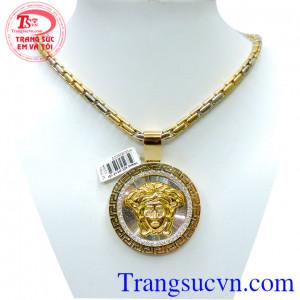 Bộ Mặt dây Versace vàng 18k Italy