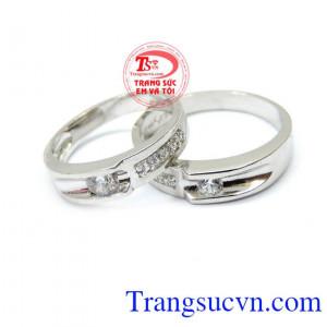 Đôi nhẫn cưới ngọt ngào 14k
