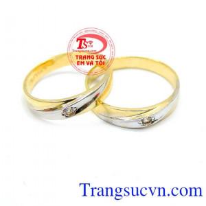 Nhẫn cưới vàng cá tính giá rẻ
