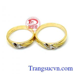 Nhẫn cưới vàng giá rẻ đẹp sang trọng kinh tế cho đôi bạn trẻ