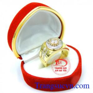 Nhẫn nam vàng tinh tế sáng bóng