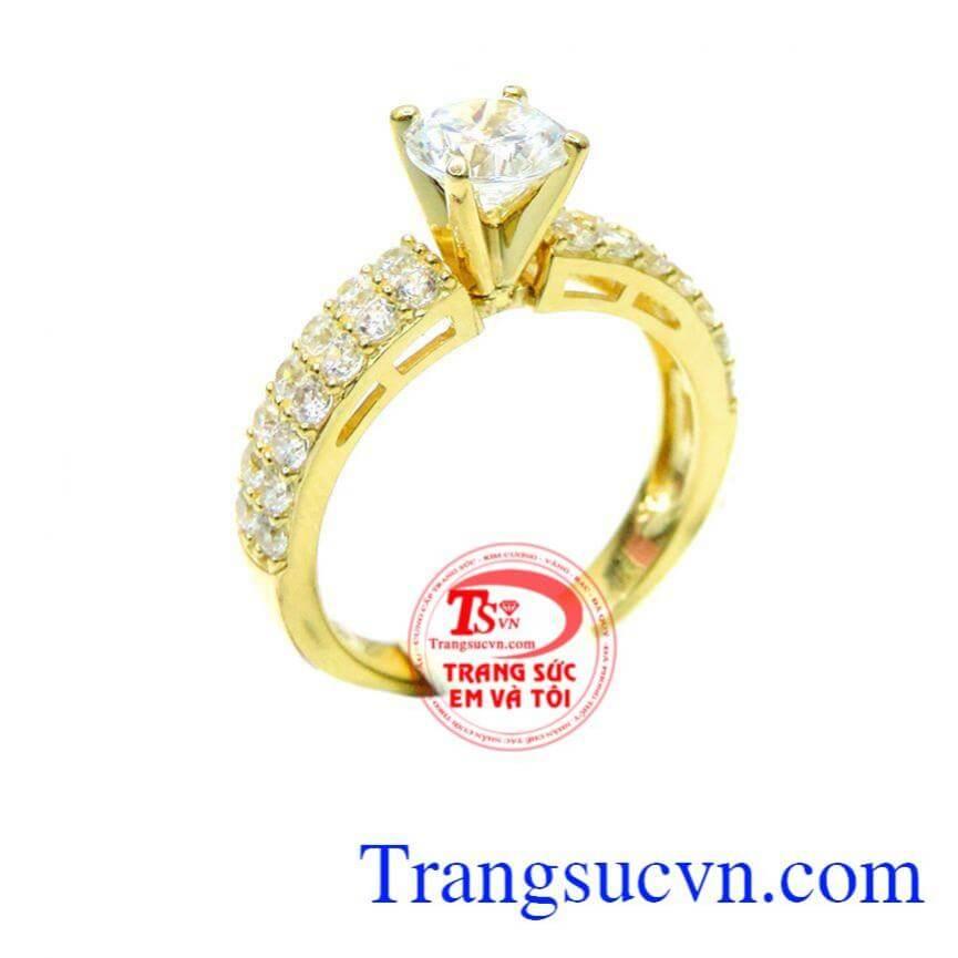 Nhẫn nữ korea vàng 10k