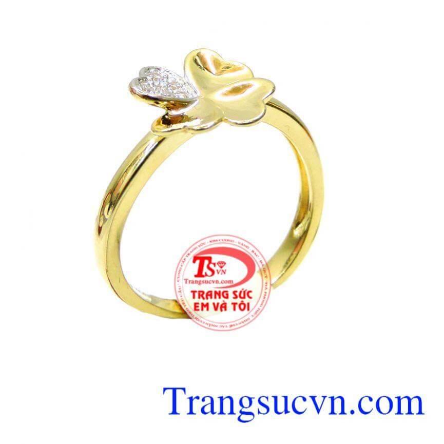 Nhẫn nữ mặt vàng hoa 10k