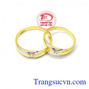 Đôi nhẫn cưới 10k giá rẻ