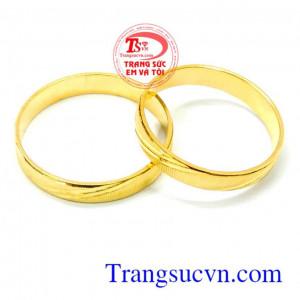 Đôi nhẫn cưới trơn sành điệu