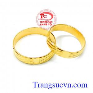 Cặp nhẫn cưới 10k tình yêu đẹp