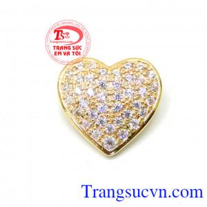 Mặt nữ vàng trái tim 10k