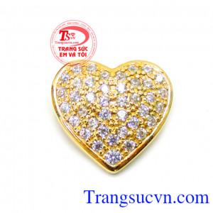 Mặt trái tim vàng 18k
