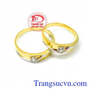 Nhẫn cưới 10k sáng bóng