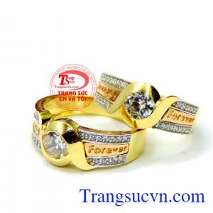 Nhẫn vàng 18k Forever
