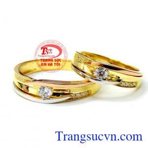 Cặp nhẫn cưới hoàn hảo 18k