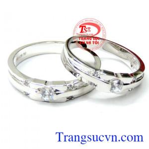 Cặp nhẫn vàng trắng