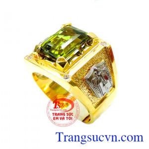 Nhẫn nam vàng peridot