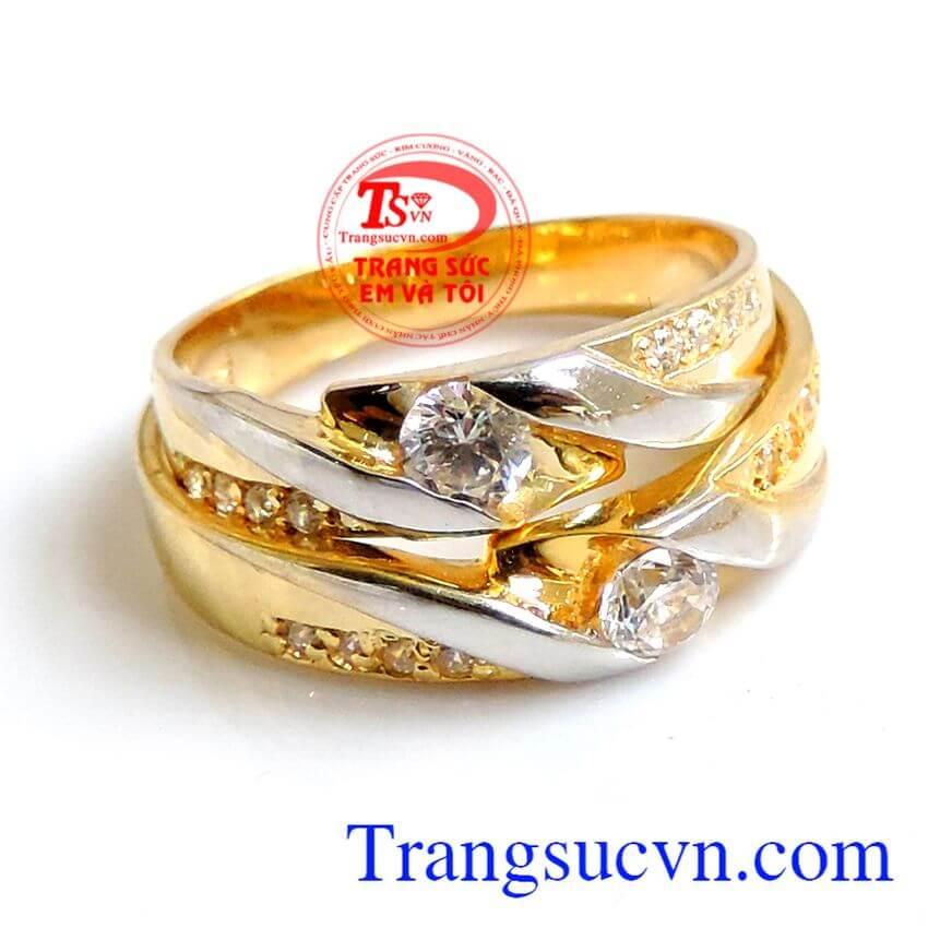 Nhẫn cưới vàng độc đáo vàng 10k