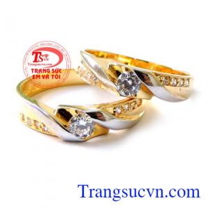 Nhẫn cưới vàng vàng tây đẹp sang trọng kinh tế cho đôi bạn trẻ