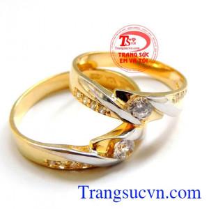 Nhẫn cưới vàng độc đáo