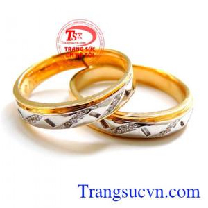 Cặp nhẫn cưới đặc 18k