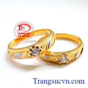 Nhẫn cưới vàng đẹp sáng