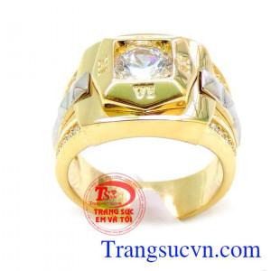 Nhẫn vàng 18k la mã