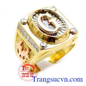 Nhẫn vàng 18k G đẹp